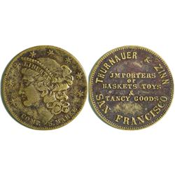 Thurnauer and Zinn Liberty Head Store Card, Plain Edge  (114084)