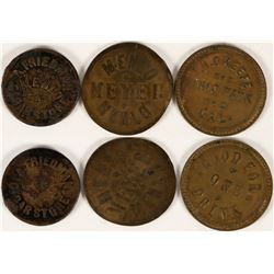 Two Menlo Park, Cal Tokens Including One Cigar Store  (112831)