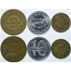 Lompoc, California Tokens (3) Including One Unknown  (112899)