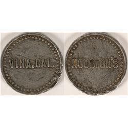 Houston's, Vina Cal. Token  (112869)