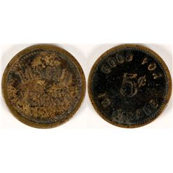 Tuscan Springs, Cal. Trade Token  (112865)