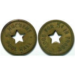 Hueneme Pool Hall, Port Hueneme, Cal Token  (112945)