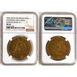 California Gold Mines 1850 Token MS62  (114048)
