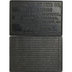 Black Hard Rubber Calendar Store Card  (114062)