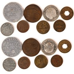 Civil War and Later Store Cards and Tokens (8)  (114059)