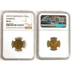 """Whist Marker, Brass, """"Bainbridge"""" MS62  (114045)"""