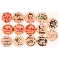 San Diego Wooden Nickels.  (112296)