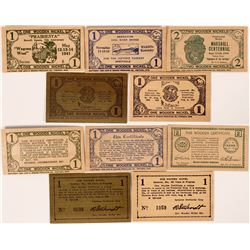 Kentucky, Kansas and Missouri wooden scrip   (112463)