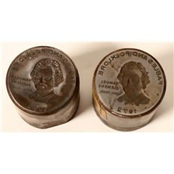 Sam Clemens Commemorative Dies (2)  (112166)