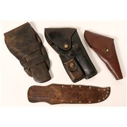Gun holsters; Cheyenne type, army flap type, and service type   (110482)