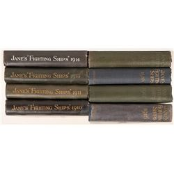 Fighting Ships by Fred T. Janes, 77 volumes, 1898-2002  (110879)