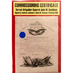 Commissioning Certificate of Brigadier General John W. Davidson  (59330)