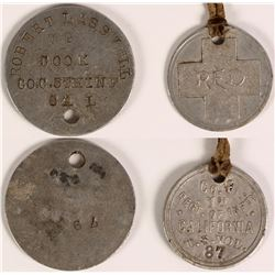 World War I Dog Tags  (109952)