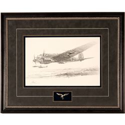 Original Drawing of a German Aircraft by Robert Bailey  (108554)