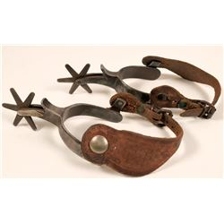 Kelly Bros.  Bronco Buster  Style Spurs, c1920s  (112174)