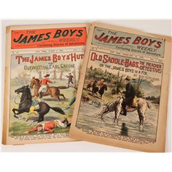 James Boys Weekly- Jesse James Related Adventure Stories (2), 1901-02  (112661)