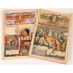 Two Copies of Wild West Weekly, 1910-11  (112663)
