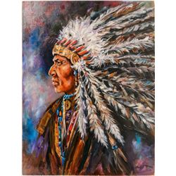 Blue Bond Indian Chief Painting  (112790)