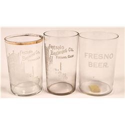 Fresno Vintage Beer Glasses (3)  (112573)