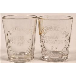 Bay Area Embossed Dose Glasses, Drugstore  (112597)