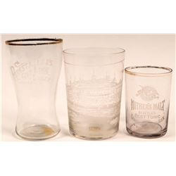 Vintage Beer Glasses, Central Calif. (3)  (112594)