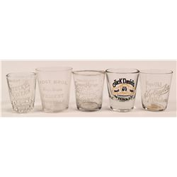 Kentucky-Tennessee Whiskey Shot Glass Group  (112584)