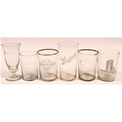 Beer Glasses, Vintage, Six Different  (112631)