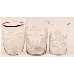 Great Lakes Vintage Beer Glasses (3)  (112572)