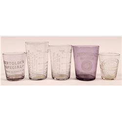 Central East Coast Vintage Whiskey Shot Glasses (5)  (112583)