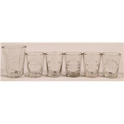 USA Drugstore Embossed Dose Glasses (6)  (112598)