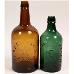 "Saratoga Mineral Springs Bottles, Backwards ""S""  (114280)"