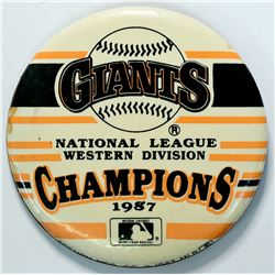 S.F. Giants 1987 Champions Pin  (112799)