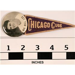 Chicago Cubs Big Bill Lee Pin and Pennant  (112402)