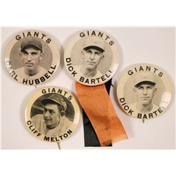 New York Giants Baseball Photo Pinbacks  (112439)