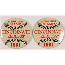 "Cincinnati ""Redlegs"" National League ""Champs"" Buttons  (112425)"
