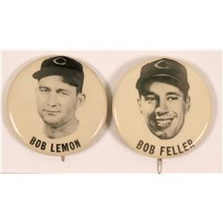 Cleveland Indians Hall of Fame Pitchers Baseball Photo Pins  (112515)
