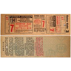 1941 Full World Series Ticket  (104090)
