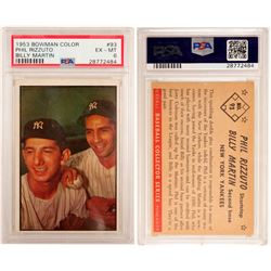 1953 Bowman Color Phil Rizzuto & Billy Martin Card  (104062)