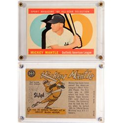 TOPPS '60 All Star Mickey Mantle Card  (104082)