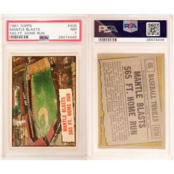 1961 TOPPS Mantle 565 ft. Home Run Card  (104061)