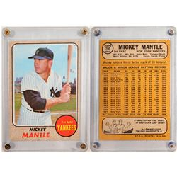1968 TOPPS Mickey Mantle Card  (104081)
