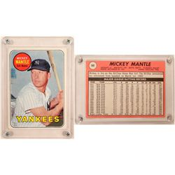 1969 TOPPS Mickey Mantle Card (Yellow)  (104080)