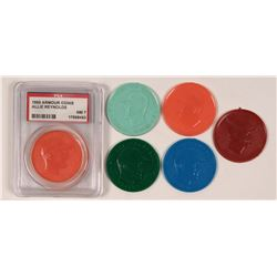 Armour Hot Dog Plastic Baseball Coins  (112516)
