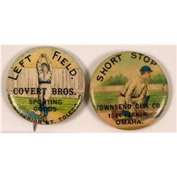 Baseball Advertising Pins  (112398)