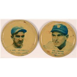 Carl Hubbell/ Joe Cronin Baseball Lapel Pins  (112404)