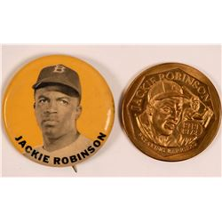 Jackie Robinson Baseball Medal and Pin  (112428)