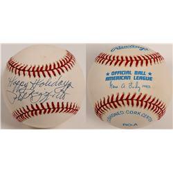 Phil Rizzuto  Happy Holidays  Ball  (104603)