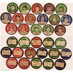 Sweet Caporal Baseball Photo Discs (Domino Reverse)  (112417)
