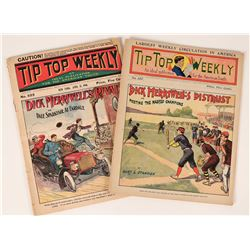 Two Copies of Tip Top Weekly Youth Periodicals- Baseball, 1906  (112660)