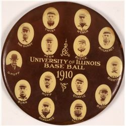 University of Illinois 1910 Baseball Team Mirror  (112522)